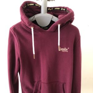 superdry burgundy sweater